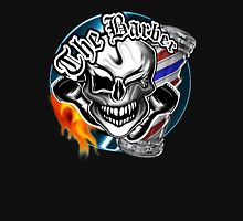 Barber Skull with Flaming Razor Unisex T-Shirt