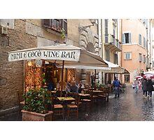 Rainy day in Rome Photographic Print