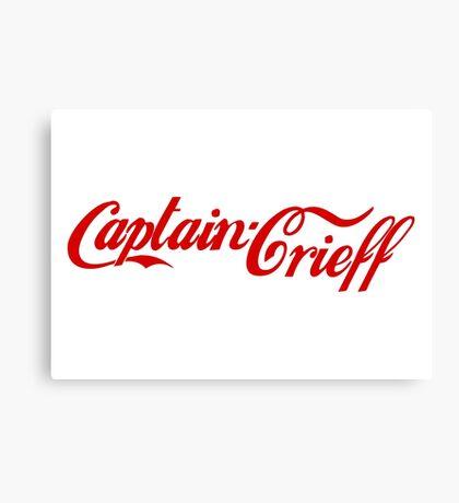 Captain Crieff (Red Version) Canvas Print