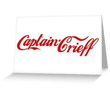 Captain Crieff (Red Version) Greeting Card