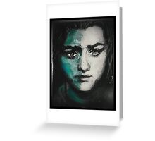 Arya Stark of Winterfell Greeting Card