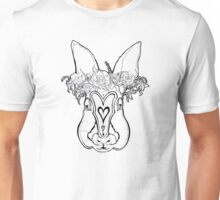 Flower Crown Bunny Unisex T-Shirt