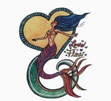 Mermaid Mantras: Love is Flow One Piece - Short Sleeve
