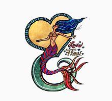 Mermaid Mantras: Love is Flow Unisex T-Shirt