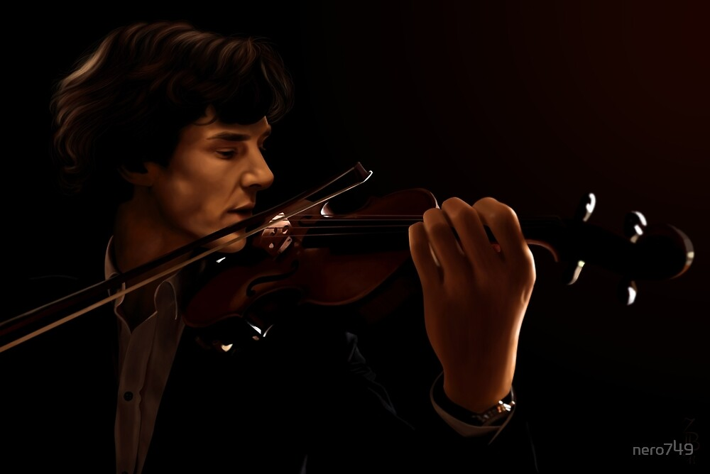 Sherlock and his Violin by nero749