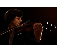 Sherlock and his Violin Photographic Print