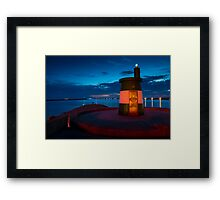 Stunning night seascape in Praia da Barra Aveiro Portugal Framed Print