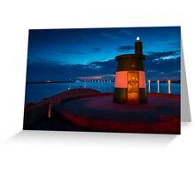 Stunning night seascape in Praia da Barra Aveiro Portugal Greeting Card