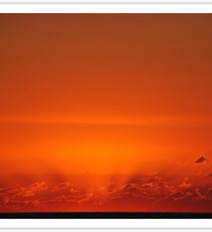 A Red Sun Sets Sticker