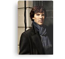 Sherlock at 221B Metal Print