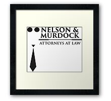 Nelson and Murdock Framed Print