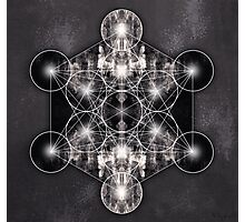 Metatron's Cube grey Photographic Print