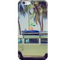 VW Bus/Camper holiday iPhone Case/Skin