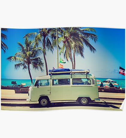 VW Bus/Camper holiday Poster