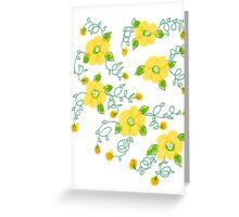 Lemon Yellow Blooms Greeting Card
