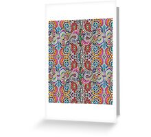 Prozac-Paisley  Greeting Card
