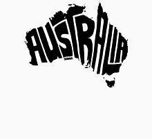 Australia Black Unisex T-Shirt
