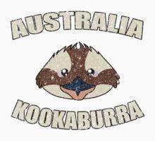 Kookaburra bird vintage design - Australian animal  One Piece - Short Sleeve