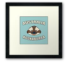 Kookaburra bird vintage design - Australian animal  Framed Print