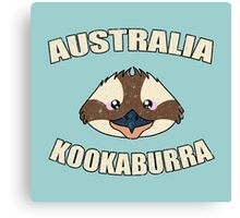 Kookaburra bird vintage design - Australian animal  Canvas Print