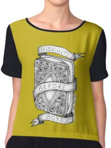 Biscuits Before Boys Chiffon Top