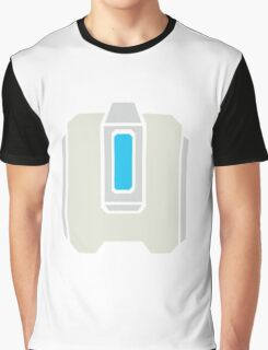 Overwatch Bastion Blue Icon Graphic T-Shirt
