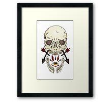 Skulls and Arrows Framed Print