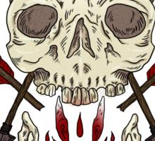 Skulls and Arrows Sticker
