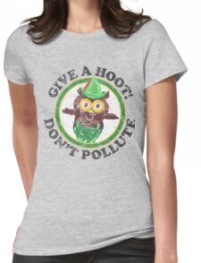 Woodsy The Owl Womens Fitted T-Shirt
