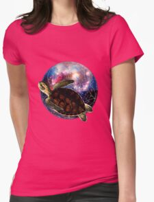 The Flight of the Turtle Womens Fitted T-Shirt