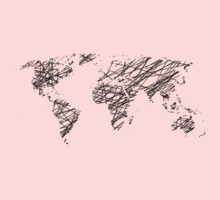 Scribble world map One Piece - Long Sleeve