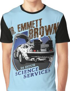 Dr. Emmett Brown Science Services Graphic T-Shirt