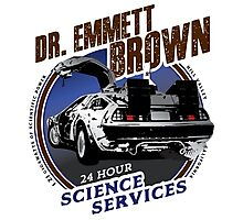 Dr Emmet Brown Science Services Photographic Print