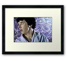 Swirly Sherlock Framed Print