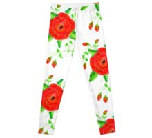 Aunt Ruby Rose Print  Leggings