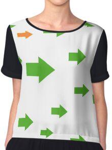 Arrows I. Chiffon Top