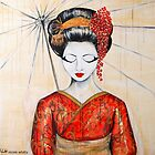Geisha in Love by whittyart