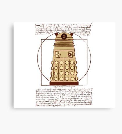 Vitruvian Dalek Canvas Print