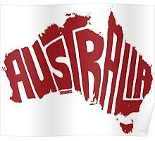 Australia Red Poster