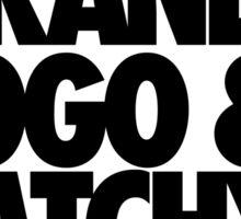 FAMOUS BRAND LOGO & CATCHY TAGLINE. Sticker
