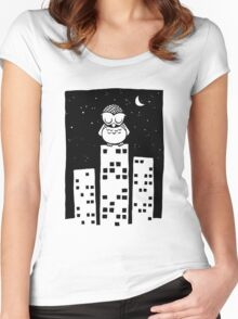 City Owl Women's Fitted Scoop T-Shirt