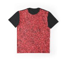 Red Sparkle Graphic T-Shirt