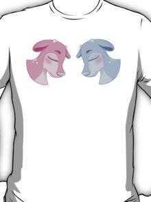 Blue & Pink Deer T-Shirt