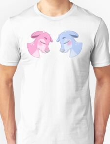 Blue & Pink Deer Unisex T-Shirt