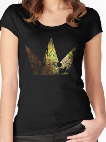 Kingdom Hearts Crown grunge universe Women's Fitted Scoop T-Shirt