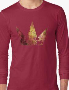 Kingdom Hearts Crown grunge universe Long Sleeve T-Shirt