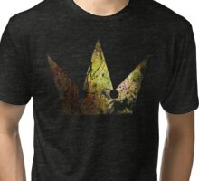 Kingdom Hearts Crown grunge universe Tri-blend T-Shirt