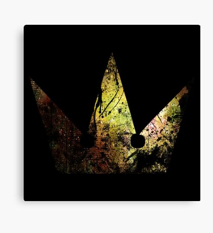 Kingdom Hearts Crown grunge universe Canvas Print