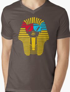 Egyptian With 3d Glass Mens V-Neck T-Shirt