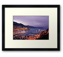 Monte Carlo at Night Framed Print